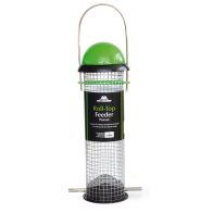See more information about the Roll-Top Peanut Feeder 4 Port Green/Black