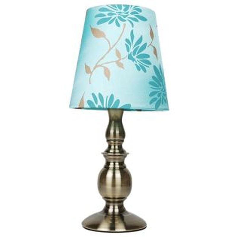 Duck Egg Floral Table Lamp