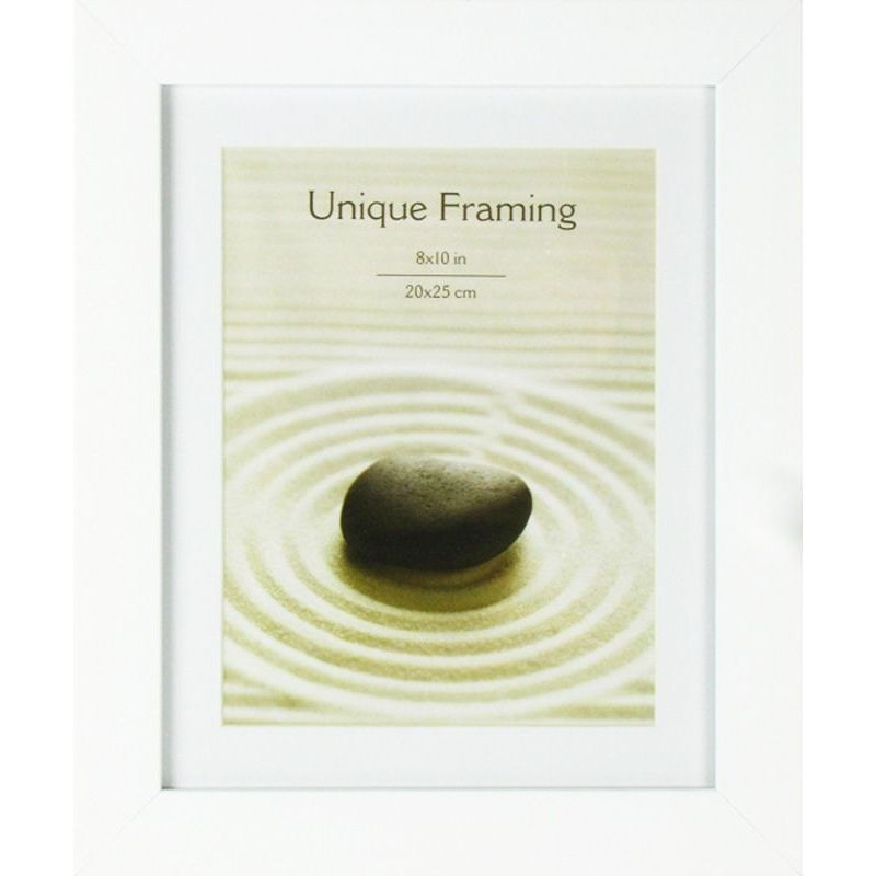 White Contemporary Photograph Frame 10 x 8 Inch