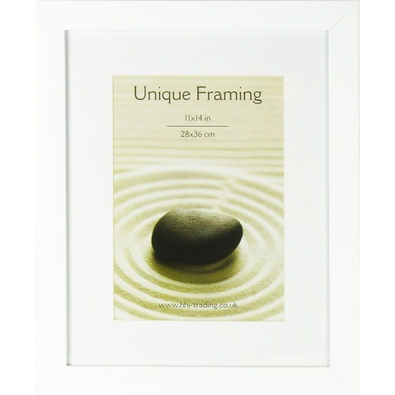 White Contemporary Photograph Frame 14 x 11 Inch