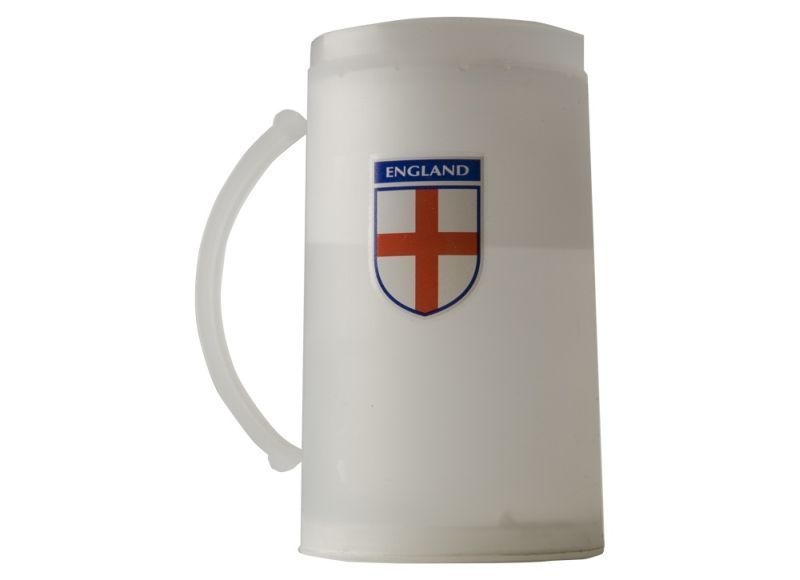 England Football Supporters Frosty Mug with 3 colour England Logo