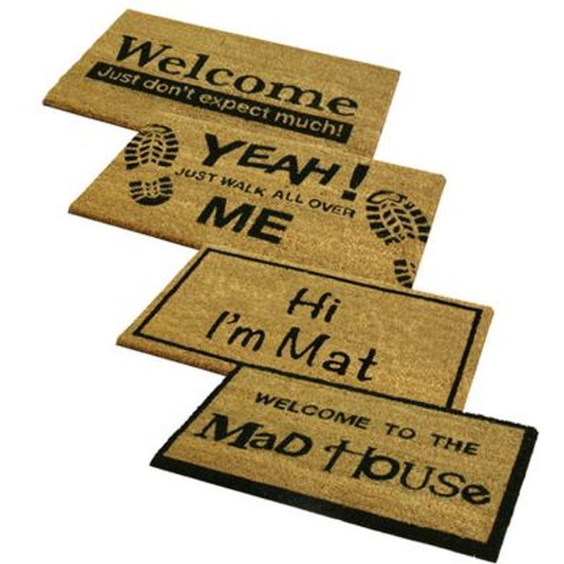 Novelty PVC Coir Doormats (Mad House)