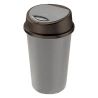 See more information about the 45L Touch Opening Bin - Black & Silver