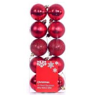 See more information about the 10 Pack of Baubles (6cm) - Red