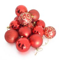 See more information about the 35 Pack of 6cm Christmas Tree Baubles Red