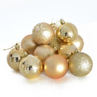 See more information about the 35 Pack of 6cm Christmas Tree Baubles Gold