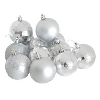 See more information about the 35 Pack of 6cm Christmas Tree Baubles Silver