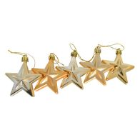 See more information about the 5 Pack Stars 6cm Gold