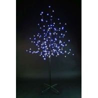 See more information about the 150cm Cherry Tree With 180 White & Blue Bulbs