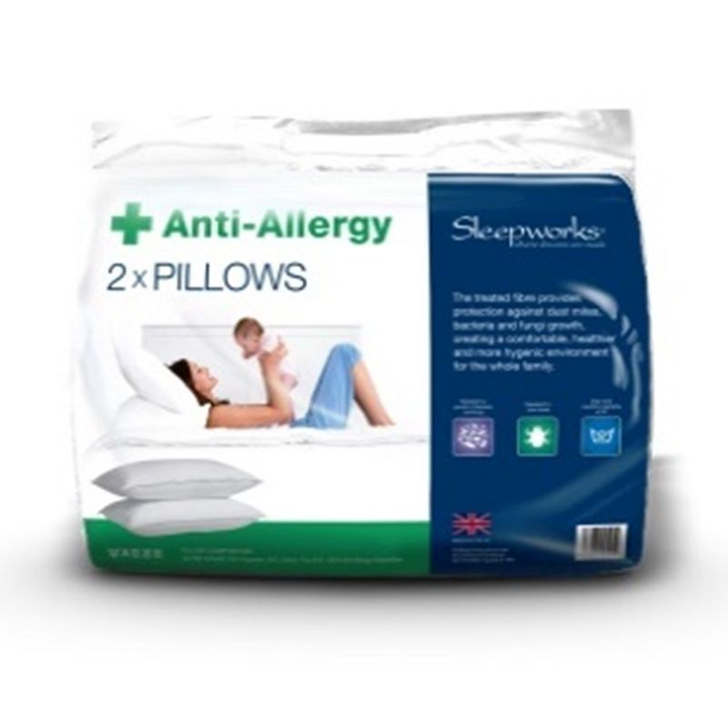 Anti Allergy Bed Pillows Polyprop (2 Pack)