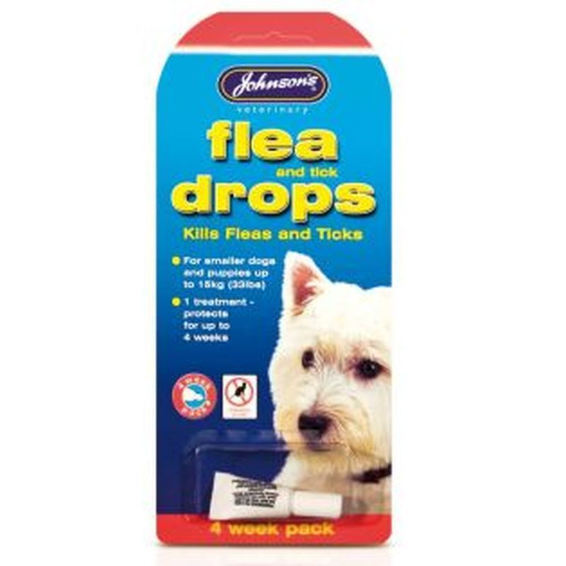 Small Dog Flea and Tick Drops (4 Week) - Johnson