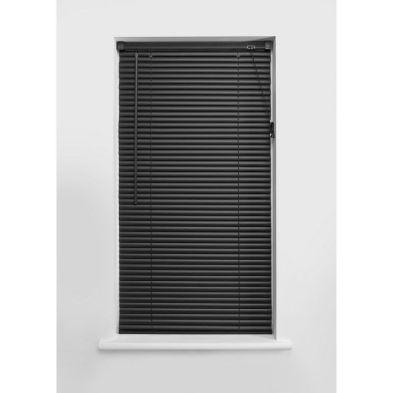 180cm Black PVC Venetian Blind
