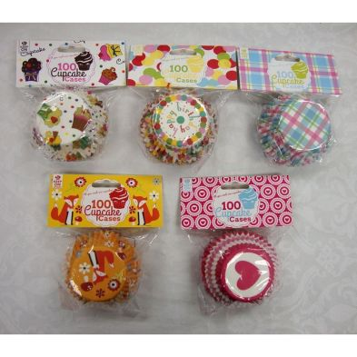 100 Cup Cake Cases (50mm)