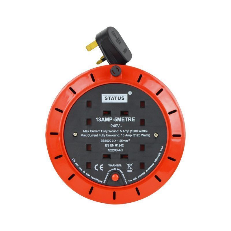Status Extension Reel 13 Amp 4 Socket Outlet (5 Metre)