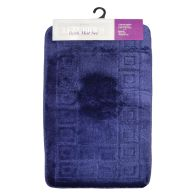 See more information about the 2 Piece Luxurious Bath Mat Set Dark Blue