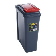 See more information about the Wham Slimline Recycle Bin Graphite/Red 25ltr