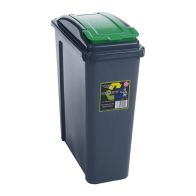 See more information about the Slimline Recycle Bin Graphite/Green 25ltr