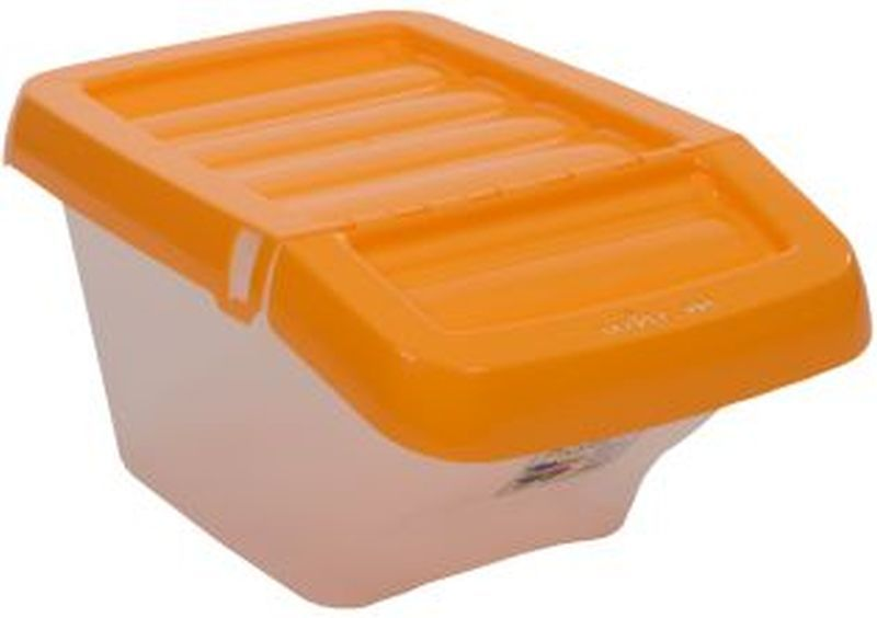 Recycle Bin Clear/Yellow Hinged Lid 30Ltr
