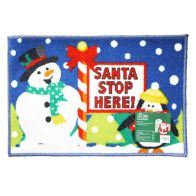 See more information about the 60x40xm Santa Stop Here Christmas Themed Machine Washable Mat