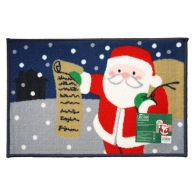 See more information about the 60x40 Christmas Themed Machine Washable Mat Santa's List