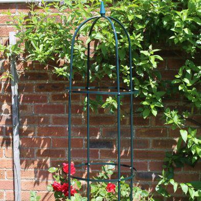 1.9m Garden Obelisk Green Plant Support