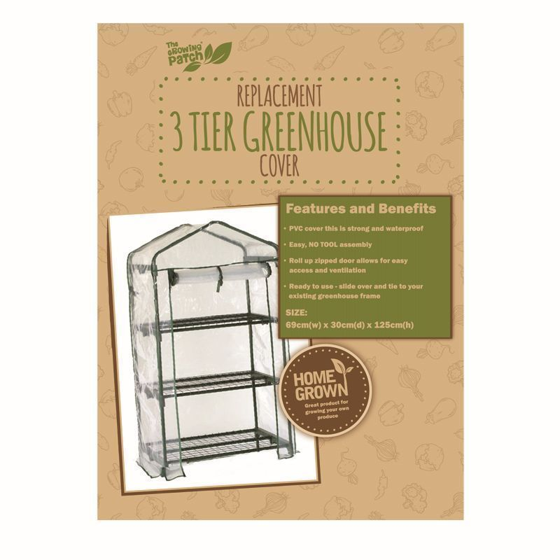 Growing Patch 3 Tier Greenhouse Cover Replacement