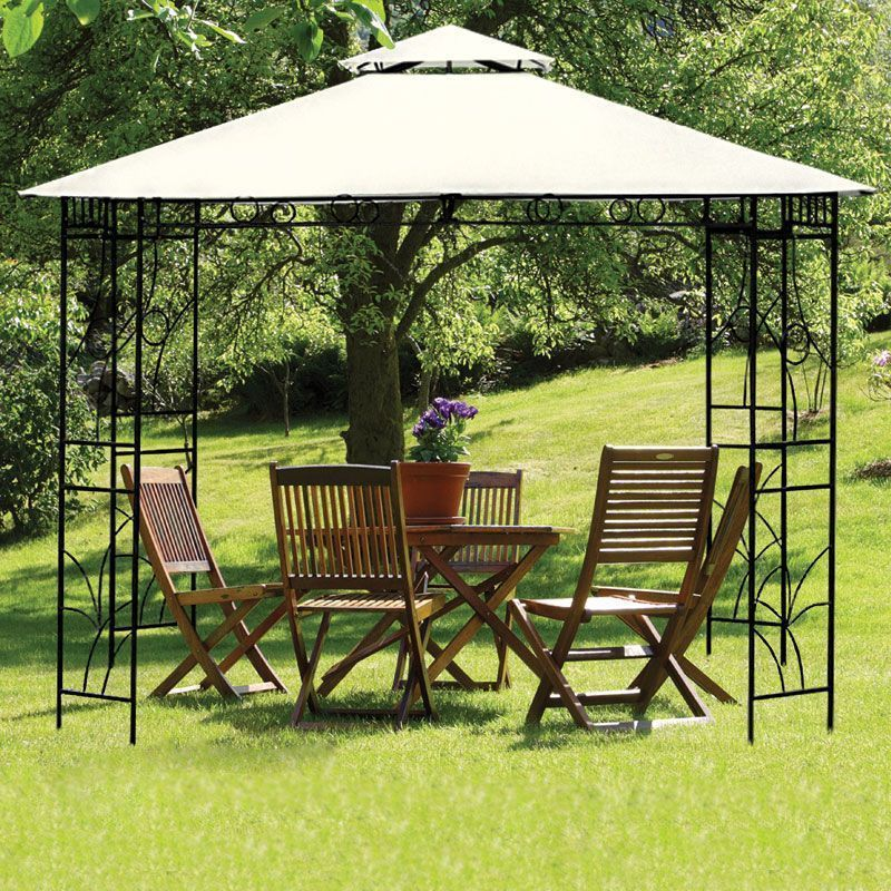 Save £20 - Croft 3m x 3m Merion Gazebo - Beige at QDStores