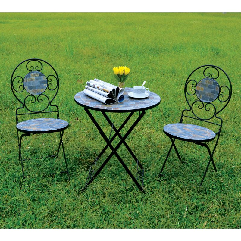 Messina 3 Piece Mosaic Bistro Furniture Set