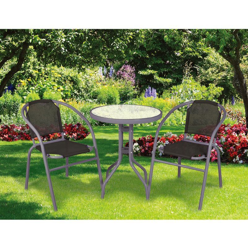 Calella Bistro Set 3 piece (Black)