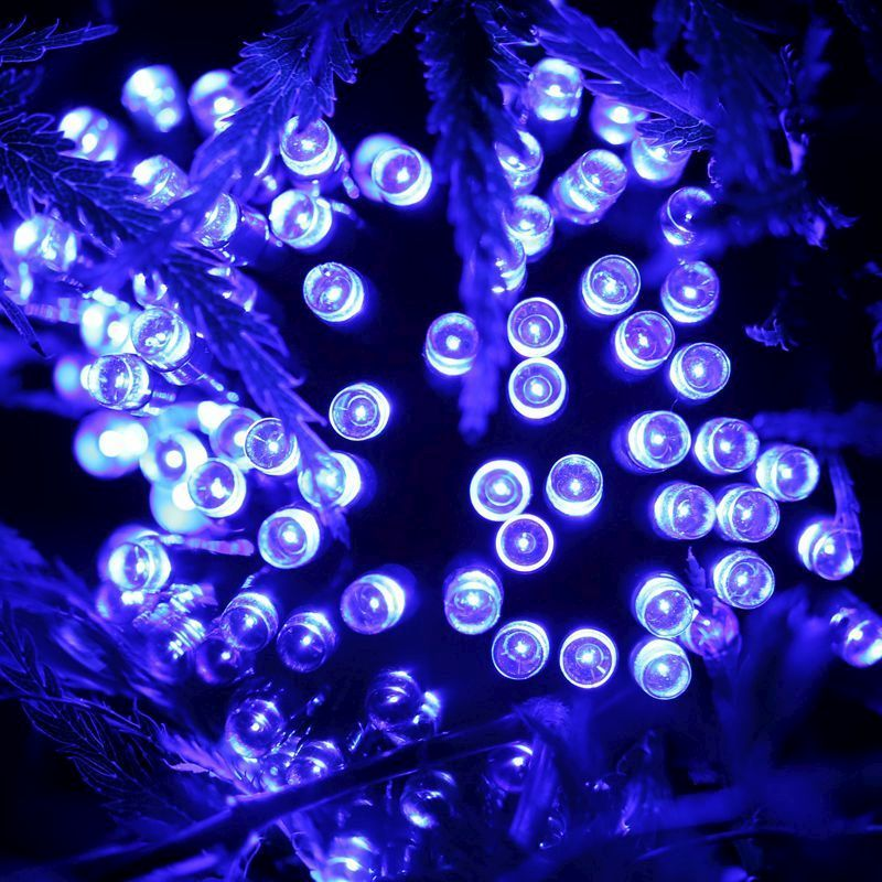Bright Garden 100 Blue LED Solar Lights