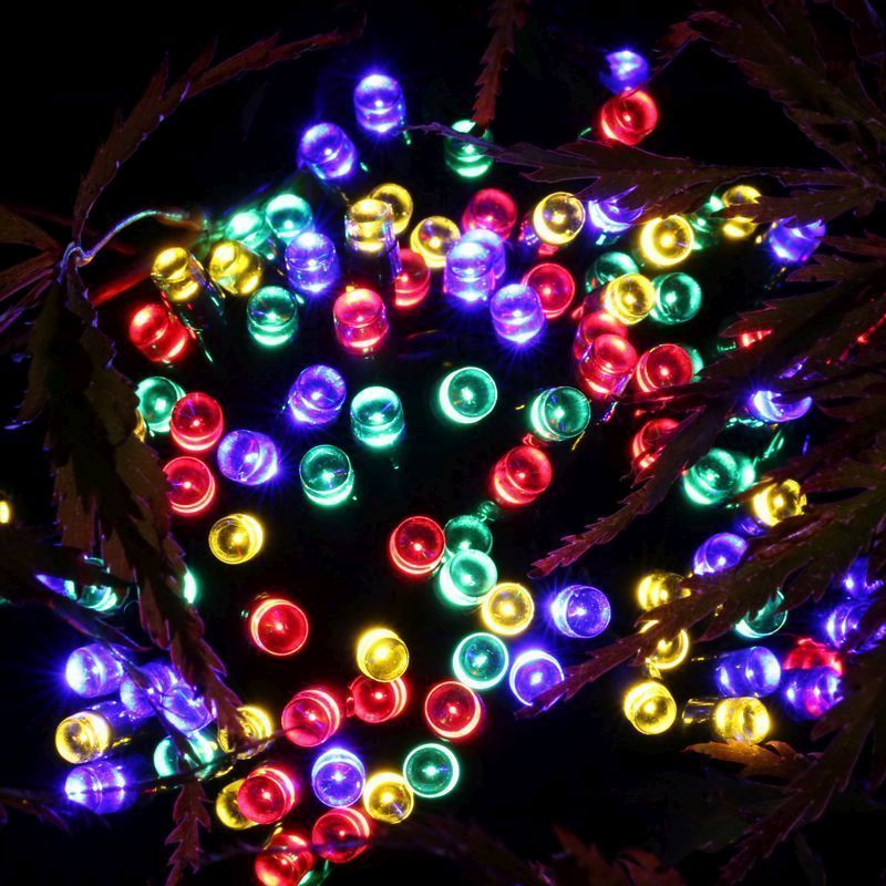 100 LED Solar Lights Multi Colour