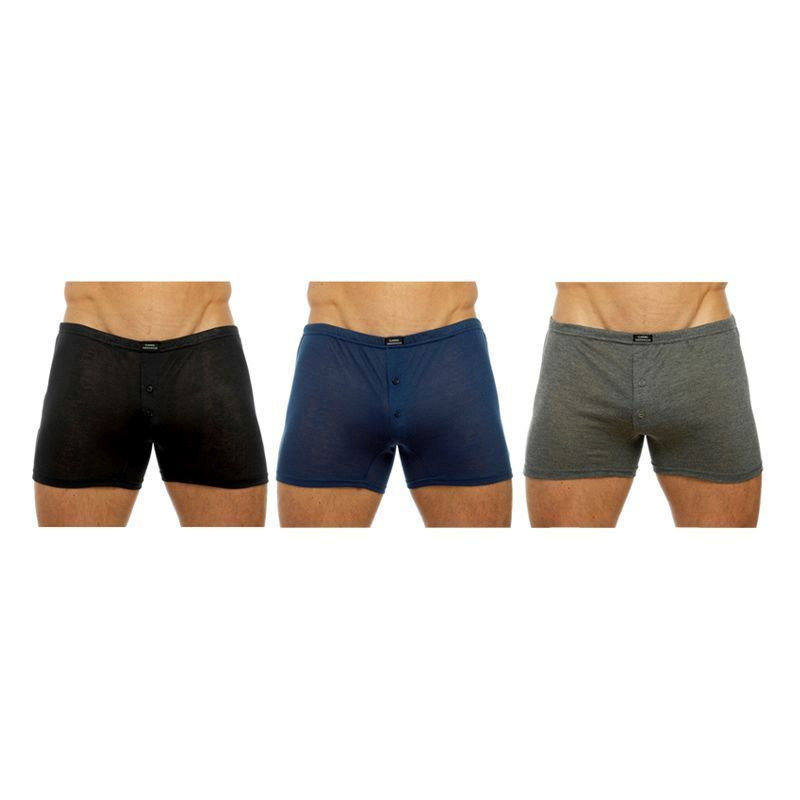 3Pk Navy Boxer Shorts Mens Large