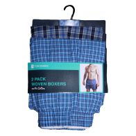 See more information about the 2 Pack Mens Woven Boxer Shorts