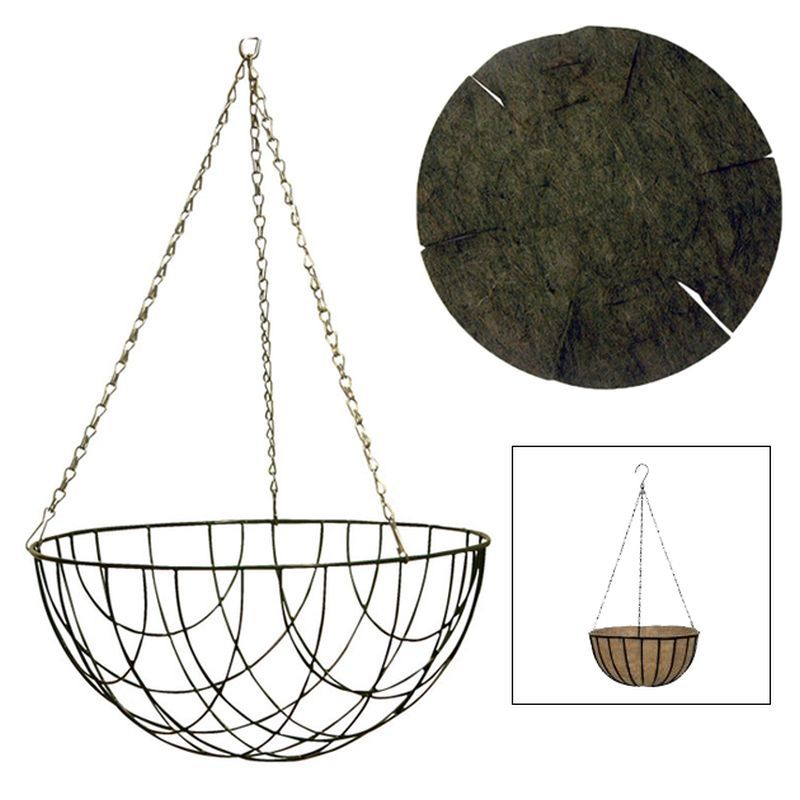 Life Outdoors Hanging Basket with Liner 12 inch
