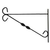 See more information about the Hanging Basket Wall Bracket 11 inch Black