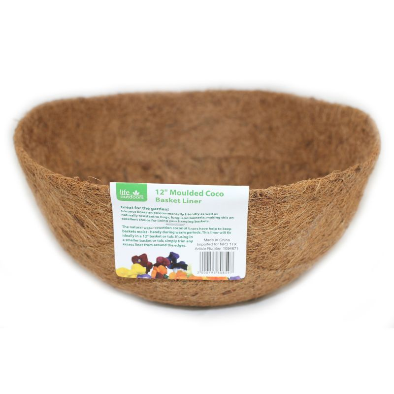 12inch Coco Moulded Hanging Basket Liner