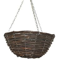 See more information about the Black Rattan Garden Basket 16""