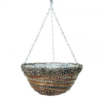 12Inch African Hanging Basket - Variegated Design
