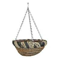 See more information about the 12Inch African Hanging Basket  - Two Tone Design