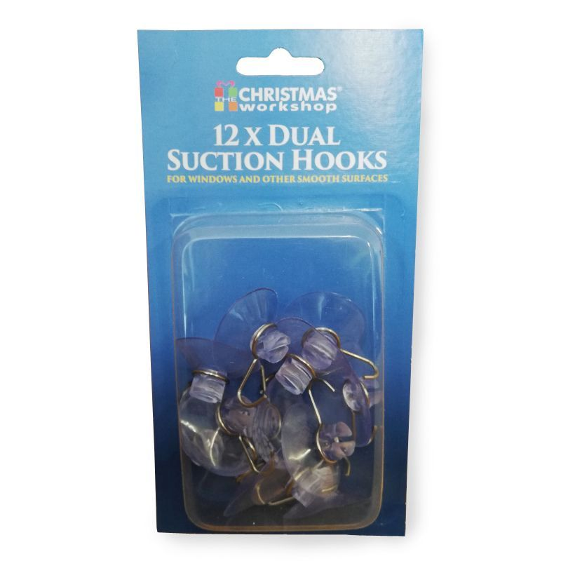 12 x 32mm Dual Suction Hooks