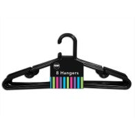 See more information about the 8Pk Black Clothes Hangers