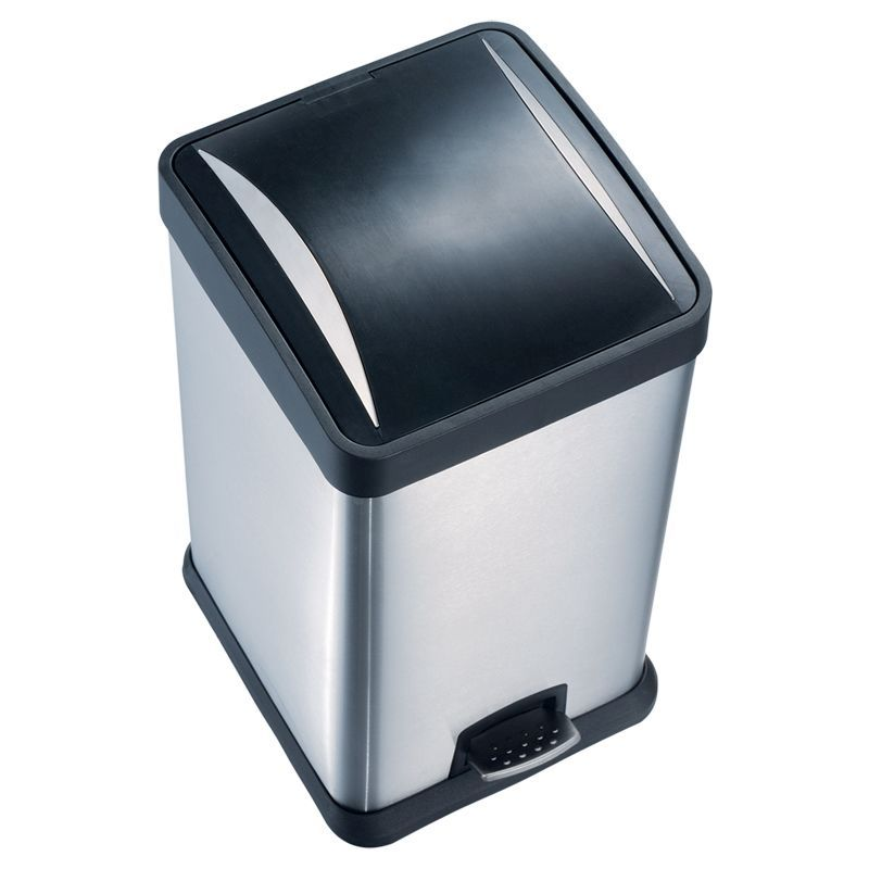 24 Litre Pedal Bin Brushed Finish