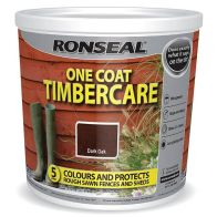 See more information about the Ronseal One Coat Timbercare 5 Litre - Dark Oak
