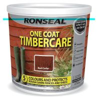 See more information about the Ronseal One Coat Timbercare 5 Litre - Red Cedar