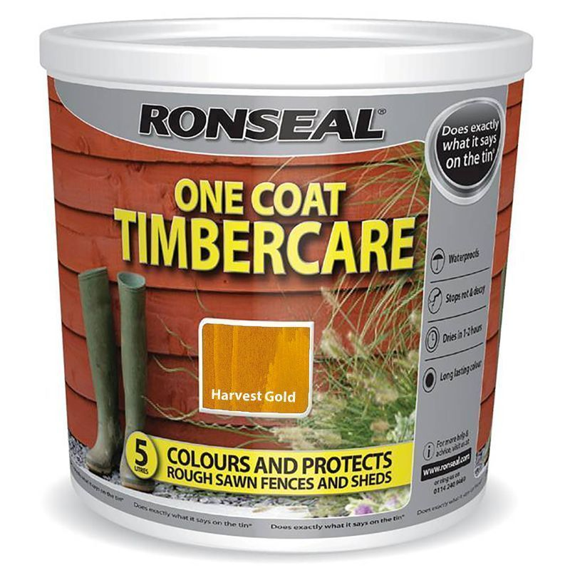 Ronseal One Coat Timbercare 5 Litre Harvest Gold Buy