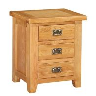 See more information about the Cotswold Oak 3 Drawer Bedside Table