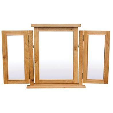 Cotswold Oak Triple Mirror