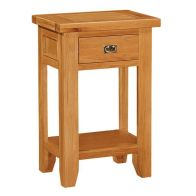 See more information about the Cotswold Oak Console Table with 1 Drawer