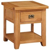 See more information about the Cotswold Holkham Lamp Table 1 Drawer
