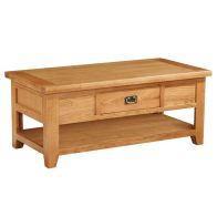 See more information about the Cotswold Oak Coffee Table with One Drawer